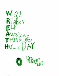 Paolo's Thank You to those who bought wreaths from him