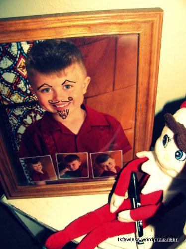 Elf on the Shelf Dry Erase Mustache