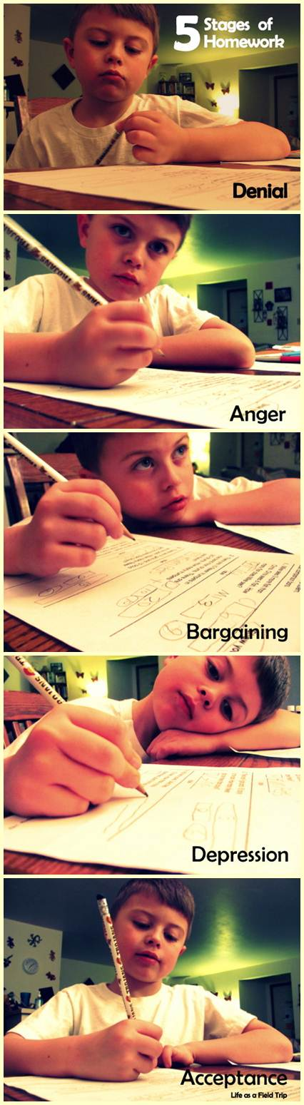 Stages of Homework blog